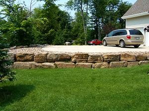 pierres pour muret de jardin pose du une pierres de collection au jardin du belleouve sur la. Black Bedroom Furniture Sets. Home Design Ideas